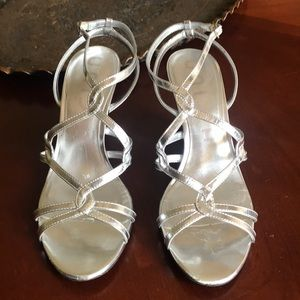 Unida leather silver sandals